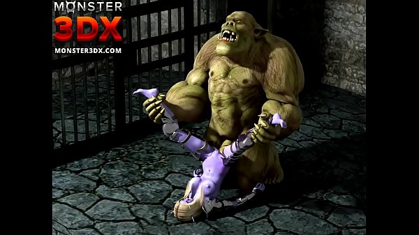 Elf girl anally fucked by powerful ogre. 3D Hentai